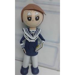 Niño comunión marinero con...