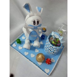 Conejo de Pascua azul