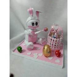 Coneja de Pascua rosa